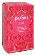 Image of Pukka Herbs - Organic Herbal Tea Love Organic Rose, Chamomile & Lavender Flower - 20 Tea Bags