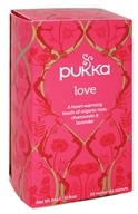 Pukka Herbs - Organic Herbal Tea Love Organic Rose, Chamomile & Lavender Flower - 20 Tea Bags