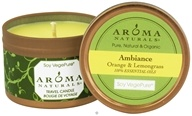 Image of Aroma Naturals - Ambiance Soy VegePure Small Travel Tin Eco-Candle Orange & Lemongrass