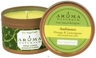 Aroma Naturals - Ambiance Soy VegePure Small Travel Tin Eco-Candle Orange & Lemongrass (769360023318)