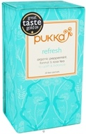 Image of Pukka Herbs - Organic Peppermint, Fennel & Rose Tea Refresh - 20 Tea Bags