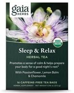 Gaia Herbs - Sleep & Relax RapidRelief Herbal Tea - 20 Tea Bags (751063145305)