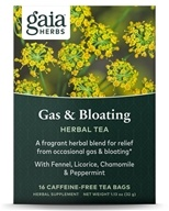 Image of Gaia Herbs - Gas & Bloating RapidRelief Herbal Tea - 20 Tea Bags