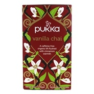 Pukka Herbs - Organic Herbal Tea Caffeine-Free Vanilla Herbal Chai - 20 Tea Bags