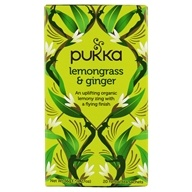 Pukka Herbs - Organic Herbal Tea Lemongrass & Ginger - 20 Tea Bags (5065000523923)