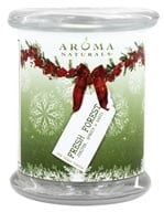 Aroma Naturals - Fresh Forest Soy Glass Candle VegePure Pillar Juniper, Spruce & Basil