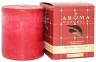 "Aroma Naturals - Peace Ruby Holiday Naturally Blended Pillar Eco-Candle 3"" x 3.5"" Orange, Clove and Cinnamon - $11.06"