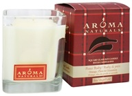 Aroma Naturals - Peace Ruby Holiday Soy VegePure Square Glass Eco-Candle Orange, Clove and Cinnamon by Aroma Naturals