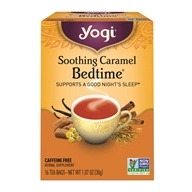 Image of Yogi Tea - Bedtime 100% Natural Herbal Supplement Caffeine Free Tea Soothing Caramel - 16 Tea Bags