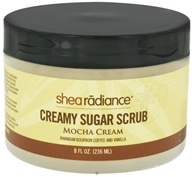 Shea Radiance - Creamy Sugar Scrub Mocha Cream - 8 oz. CLEARANCE PRICED (898175002734)