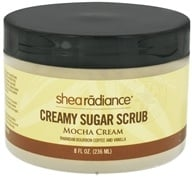 Shea Radiance - Creamy Sugar Scrub Mocha Cream - 8 oz. CLEARANCE PRICED - $10.08
