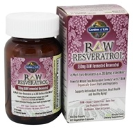 Garden of Life - Raw Resveratrol RAW Fermented Resveratrol 350 mg. - 60 Capsules, from category: Nutritional Supplements
