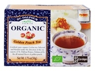 Image of St. Dalfour - Deluxe Premium Organic Tea Golden Peach - 25 Tea Bags