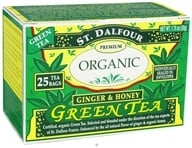 Image of St. Dalfour - Green Tea Premium Organic Ginger & Honey - 25 Tea Bags