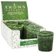 Aroma Naturals - Evergreen Holiday Naturally Blended Votive Eco-Candle Juniper, Spruce & Basil, from category: Aromatherapy