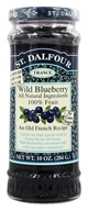 Image of St. Dalfour - Fruit Spread 100% Natural Jam Wild Blueberry - 10 oz.