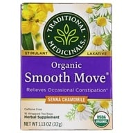 Traditional Medicinals - Smooth Move Herbal Tea with Chamomile Caffeine Free - 16 Tea Bags (032917002013)