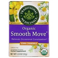 Traditional Medicinals - Smooth Move Herbal Tea Stimulant Laxative Caffeine Free with Senna - 16 Tea Bags