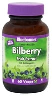 Bluebonnet Nutrition - Standardized Bilberry Fruit Extract 80 mg. - 60 Vegetarian Capsules (743715013124)