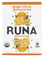 Runa - Amazonian Guayusa Ginger Citrus - 16 Tea Bags, from category: Teas