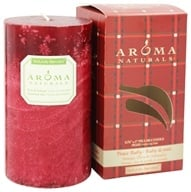 "Aroma Naturals - Peace Ruby Holiday Naturally Blended Pillar Eco-Candle 2.75"" x 5"" Orange, Clove and Cinnamon"