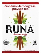 Runa - Amazonian Guayusa Cinnamon Lemongrass - 16 Tea Bags, from category: Teas