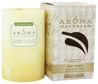 "Image of Aroma Naturals - Wish Holiday Naturally Blended Pillar Eco-Candle 2.5"" x 4"" Peppermint & Vanilla"