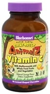 Bluebonnet Nutrition - Animalz Vitamin C Natural Orange Flavor - 90 Chewables by Bluebonnet Nutrition