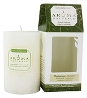 "Image of Aroma Naturals - Meditation Naturally Blended Pillar Eco-Candle 2.5"" x 4"" Patchouli & Frankincense"