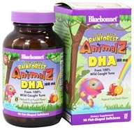Image of Bluebonnet Nutrition - Animalz DHA From 100% Wild Caught Tuna Natural Fruit Punch Flavor 100 mg. - 90 Soft Chews