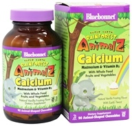 Bluebonnet Nutrition - Animalz Calcium Magnesium & Vitamin D3 Natural Vanilla Frosting Flavor - 90 Chewables