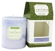 "Aroma Naturals - Tranquility Naturally Blended Pillar Eco-Candle 3"" x 3.5"" Wildcrafted Lavender by Aroma Naturals"
