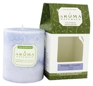 "Image of Aroma Naturals - Tranquility Naturally Blended Pillar Eco-Candle 3"" x 3.5"" Wildcrafted Lavender"