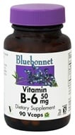 Bluebonnet Nutrition - Vitamin B-6 50 mg. - 90 Vegetarian Capsules, from category: Vitamins & Minerals