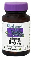 Bluebonnet Nutrition - Vitamin B-6 50 mg. - 90 Vegetarian Capsules by Bluebonnet Nutrition