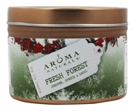 Aroma Naturals - Evergreen Holiday Soy VegePure Small Travel Tin Eco-Candle Juniper, Spruce & Basil