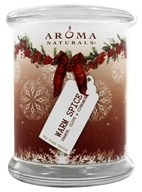 "Image of Aroma Naturals - Peace Ruby Holiday Soy VegePure Pillar Eco-Candle 3"" x 3.5"" Orange, Clove and Cinnamon - CLEARANCE PRICED"