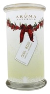 Aroma Naturals - Wish Holiday Soy VegePure Square Glass Eco-Candle Peppermint & Vanilla by Aroma Naturals
