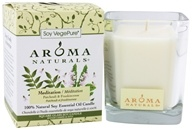 Image of Aroma Naturals - Meditation Soy VegePure Square Glass Eco-Candle Patchouli & Frankincense