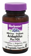 Bluebonnet Nutrition - Acidophilus Plus FOS Milk-Free Probiotic - 50 Vegetarian Capsules - $11.16