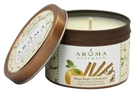 Image of Aroma Naturals - Peace Pearl Soy VegePure Small Travel Tin Eco-Candle Orange, Clove & Cinnamon