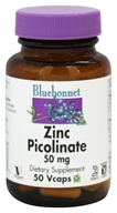 Bluebonnet Nutrition - Zinc Picolinate 50 mg. - 50 Vegetarian Capsules (743715007383)