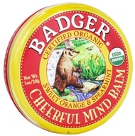 Badger - Cheerful Mind Balm Sweet Orange & Spearmint - 1 oz. by Badger