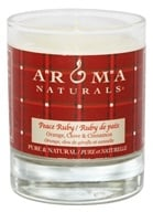 Aroma Naturals - Peace Ruby Holiday Soy VegePure Votive Glass Eco-Candle Orange, Clove and Cinnamon by Aroma Naturals