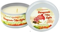 Image of Aroma Naturals - Zhena's Gypsy Tea Pomegranate Cider Lights Harvest Medium Tin Eco-Candle Pomegranate, Spices & Apples - CLEARANCE PRICED