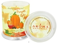 Aroma Naturals - Zhena's Gypsy Tea Pumpkin Spice Lights Harvest Glass Jar Eco-Candle Spices and Vanilla by Aroma Naturals