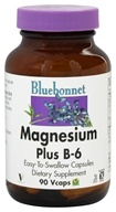 Bluebonnet Nutrition - Magnesium Plus B-6 - 90 Vegetarian Capsules by Bluebonnet Nutrition