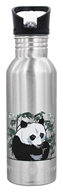 Image of New Wave Enviro Products - Flip N' Sip Stainless Steel Water Bottle Nature - 0.6 Liter(s) CLEARANCE PRICED