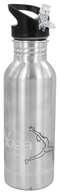 Image of New Wave Enviro Products - Flip N' Sip Stainless Steel Water Bottle Yoga - 0.6 Liter(s) CLEARANCE PRICED