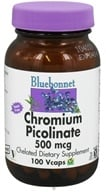 Bluebonnet Nutrition - Chromium Picolinate Chelated 500 mcg. - 100 Vegetarian Capsules (743715007253)